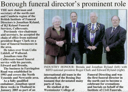 Borough funeral director's prominent role